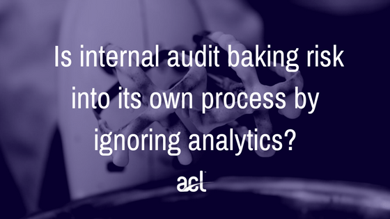 Internal audit taking risks
