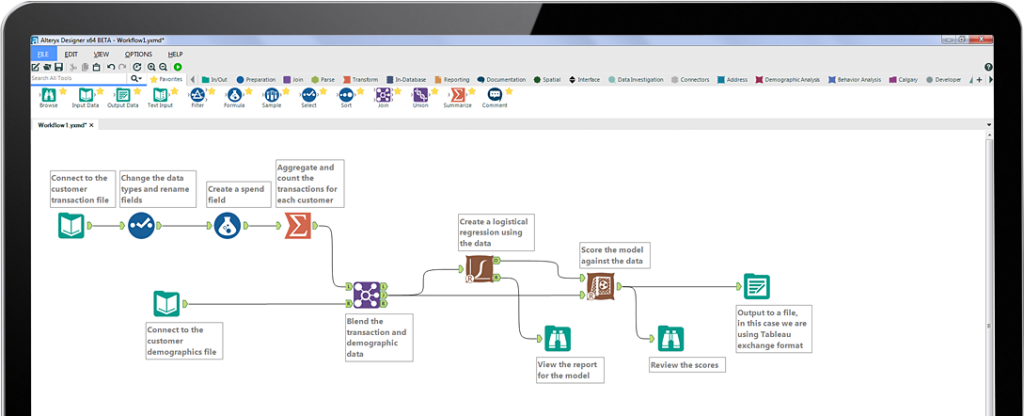 View of alteryx dashboard