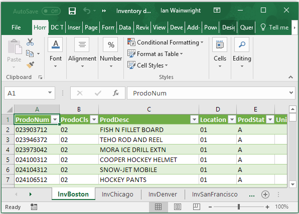 Using ACL APPPEND and Excel Imports
